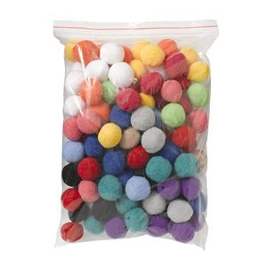 Jasart Pom Poms 38mm Assorted 50 Pack