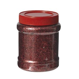Jasart Glitter Jar 250g Red
