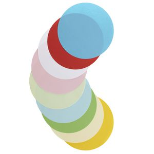 Jasart Paper Circles 180mm Matt Assorted 500 Pack