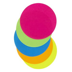 Jasart Paper Circles 120mm Fluoro Assorted 100 Pack
