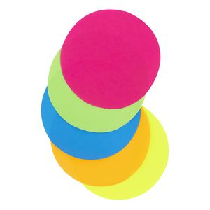 Jasart Paper Circles 180mm Fluoro Assorted 100 Pack