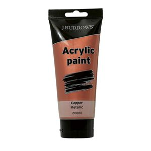J.Burrows Acrylic Paint 200mL Metallic Copper