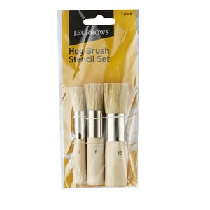 J.Burrows Hog Brush Stencil Set 3 Pack