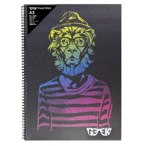 Geek A3 Visual Diary Hipster Lion