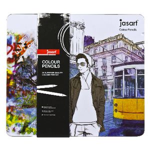 Jasart Colour Pencils in Tin 24 Pack