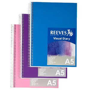 Reeves Visual Colour Diary A5 Assorted Colours