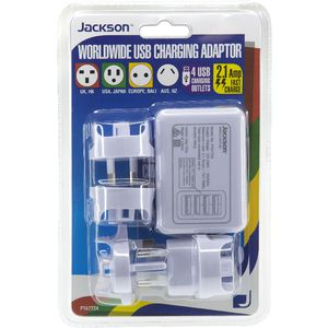 Jackson Outbound Multi Country Travel Adaptor with 4 USB Port