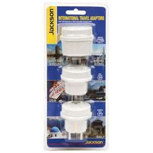Jackson Outbound Multi Travel Adaptors Set of 3