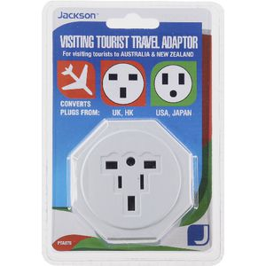 Jackson Visiting Tourist Travel Adaptor Uk And Usa Officeworks