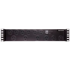 Jackson 12 Outlet Rackmount Powerboard Black