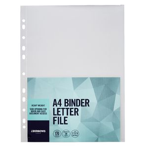 J.Burrows Binder Letter File A4 Clear