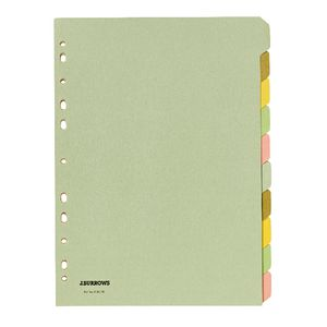 J.Burrows A4 10 Tab Dividers Pastel