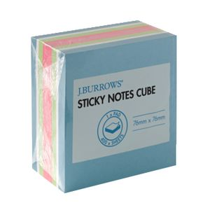 J.Burrows Stick-It Cube Notes 76 x 76mm