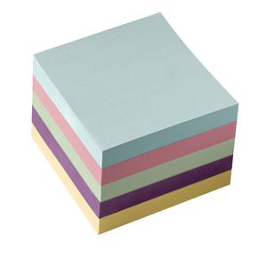 J.Burrows Stick-It Notes 76 x 76mm Pastel 5 Pack