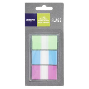 J.Burrows Flags 25x44mm Assorted 3 Pack