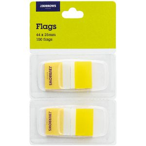 J.Burrows Flags 25x44mm Yellow 2 Pack