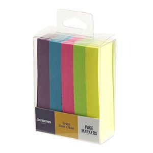 J.Burrows Page Markers 23 x 73mm 5 Pack