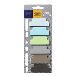 J.Burrows Page Markers 20 x 50mm Cool 6 Pack