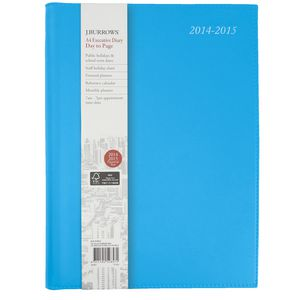 J.Burrows A4 Day to Page Executive Financial Diary Blue