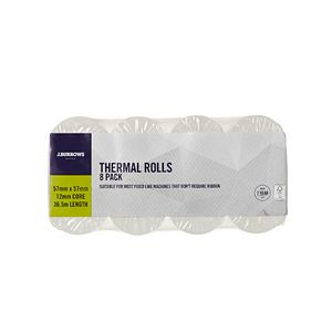 J.Burrows Thermal Rolls 57 x 57mm 8 Pack