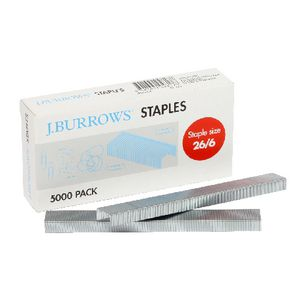 J.Burrows Size 26/6 Staples Box of 5000
