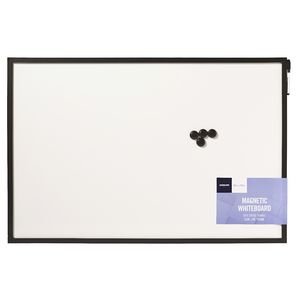 J.Burrows Magnetic Black Whiteboard 60 x 90cm