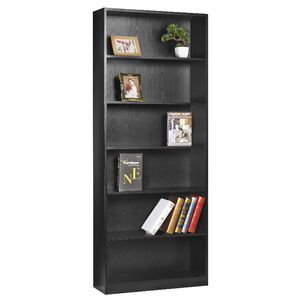 Austin 6 Shelf Bookcase Black