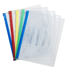 J.Burrows A5 PVC Zip Wallet 5 Pack