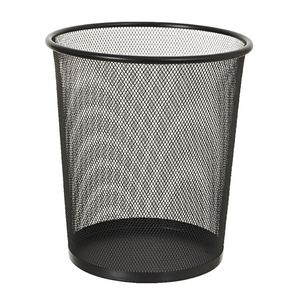 J Burrows 8l Wire Mesh Waste Bin Black Officeworks