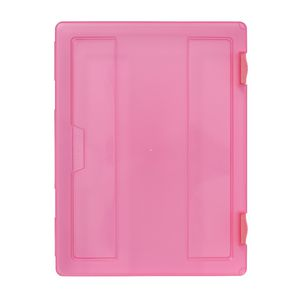 J.Burrows Stationery Case A4 Clip Closure Pink