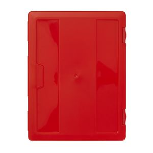 J.Burrows Stationery Case A4 Clip Closure Red