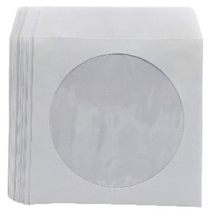 J.Burrows CD Envelopes White 50 Pack