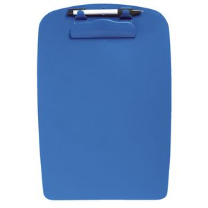 Clipboard A4 Plastic with Pen Blue