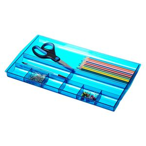 J.Burrows Drawer Tidy Tinted Blue