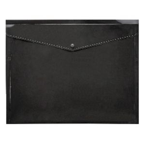 J.Burrows A3 Button Document Wallet Black