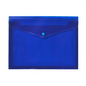 J.Burrows A4 Button Document Wallet Blue