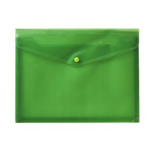 J.Burrows A4 Button Document Wallet Green