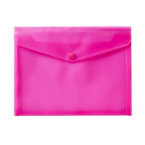 J.Burrows A4 Button Document Wallet Pink