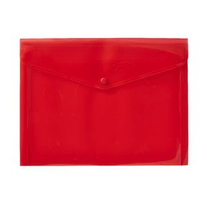 J.Burrows A4 Button Document Wallet Red