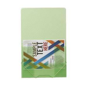J.Burrows A4 Document Wallet with Elastic Closure Green