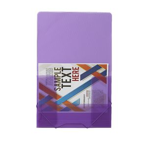 J.Burrows A4 Document Wallet with Elastic Closure Purple