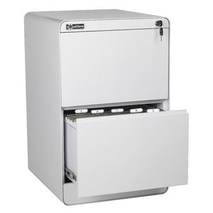 Excalibre 2 Drawer Filing Cabinet White