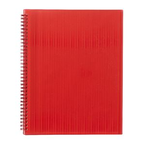 J.Burrows Display Book A4 20 Pocket Fixed Red