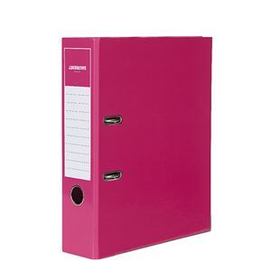 J.Burrows Gloss Lever Arch File A4 2 Ring Pink