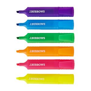 J.Burrows Highlighters Assorted 6/Pack