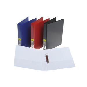 J.Burrows Insert Binder A4 2 D-Ring 25mm Red 25 Pack