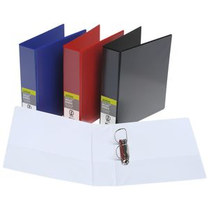 J.Burrows Insert Binder A4 2 D-Ring 50mm Red 12 Pack