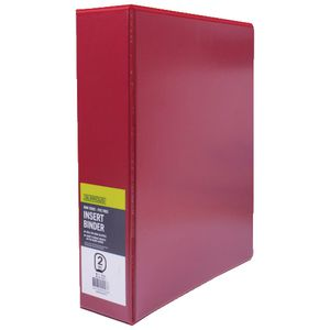 J.Burrows Insert Binder A4 2 D-Ring 50mm Red