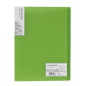 J.Burrows Ice Display Book A4 20 Pocket Fixed Green