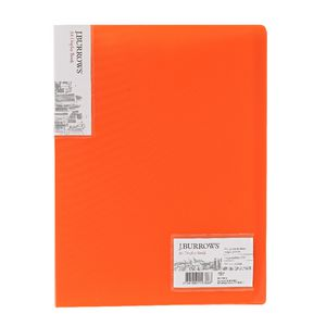 J.Burrows Ice Display Book A4 20 Pocket Fixed Orange